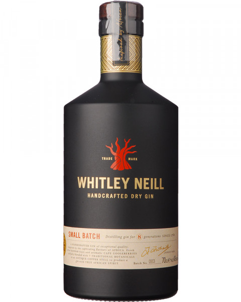 Whitley Neill Small Batch Handcrafted Dry Gin 43%vol 0,7l