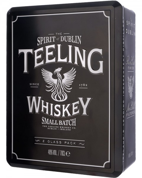 Teeling Small Batch Irish Whiskey Metalldose mit 2 Gläser 0,7l