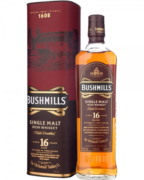 Bushmills 16 Jahre Single Malt Irish Whiskey 0,7l