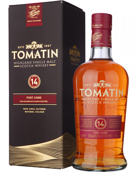 Tomatin 14 Jahre Port Wood Finish 0,7l