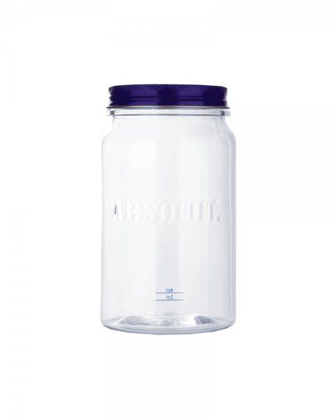 Absolut Vodka Longdrink Glas PVC mit Deckel
