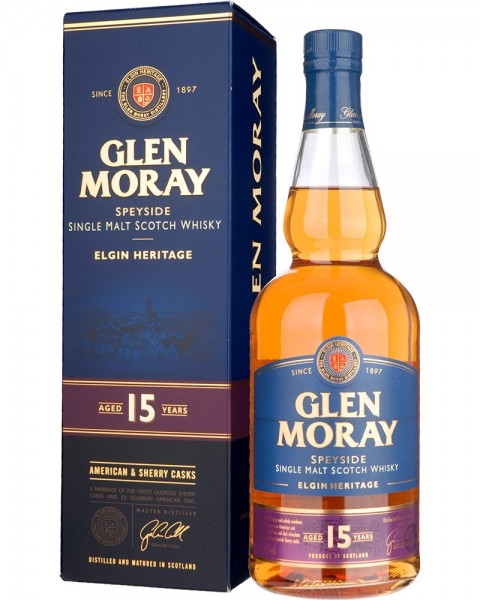 Glen Moray 15 Years American & Sherry Casks 0,7l