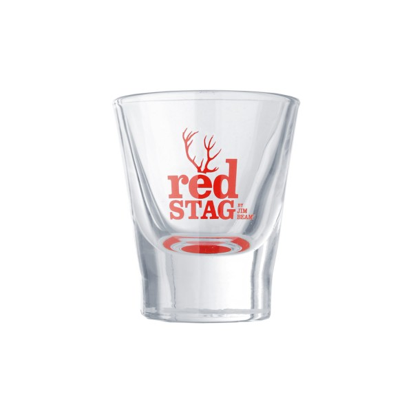 Red Stag by Jim Beam Shoot Glas