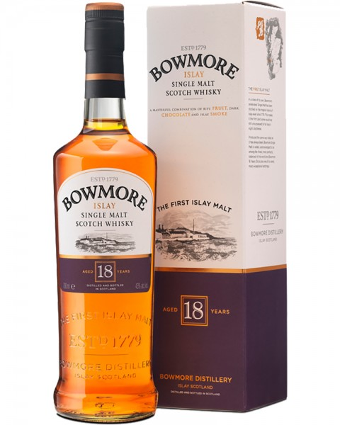 Bowmore 18 Years old Islay Single Malt Scotch Whisky 0,7l