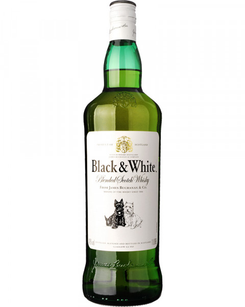Black & White Blended Scotch Whisky 1,0l