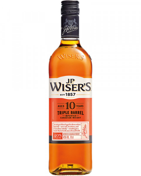 J.P. Wisers 10 YO Triple Barrel 0,7l