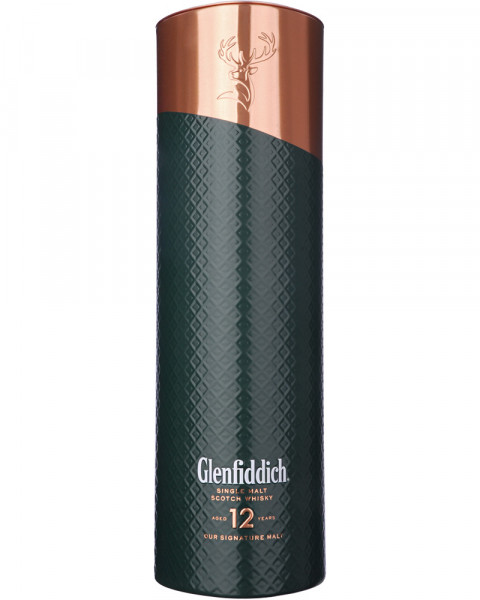 Glenfiddich 12 Jahre Gift Copper Outer Tin - Limited Edition 0,7l