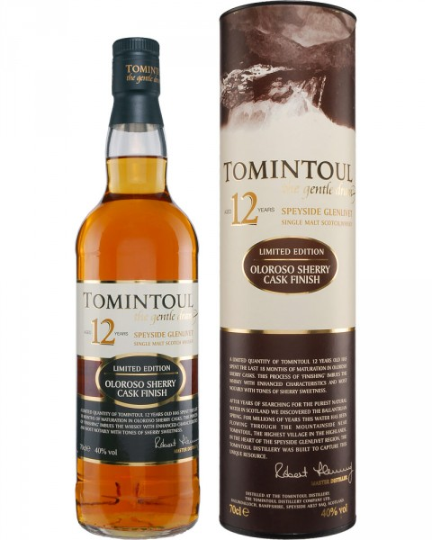 Tomintoul 12 Jahre Oloroso Sherry Cask Finish 0,7l