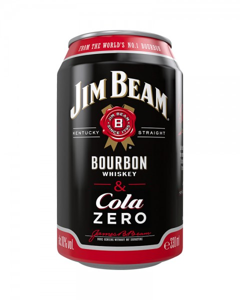 Jim Beam Bourbon Whiskey & Cola ZERO Dose (EINWEG) 0,33l