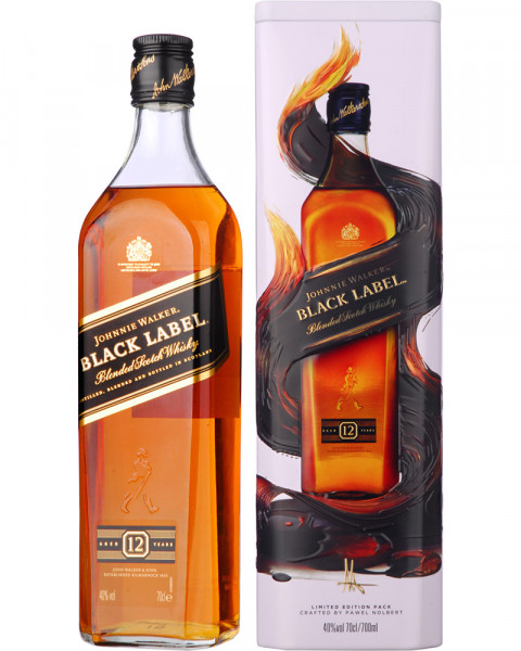 Johnnie Walker Black Label 12 Years in Metalldose 0,7l