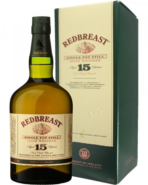Redbreast 15 Jahre Single Malt Irish Whiskey 0,7l