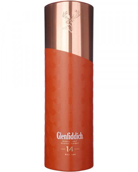 Glenfiddich 14 Jahre Gift Copper Outer Tin - Limited Edition 0,7l