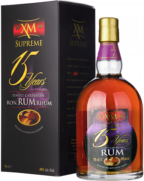 XM SUPREME 15 Years Finest Caribbean Rum 0,7l