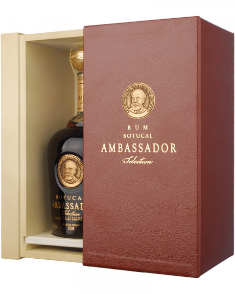 Ron Botucal AMBASSADOR in Leder-Case 0,7l