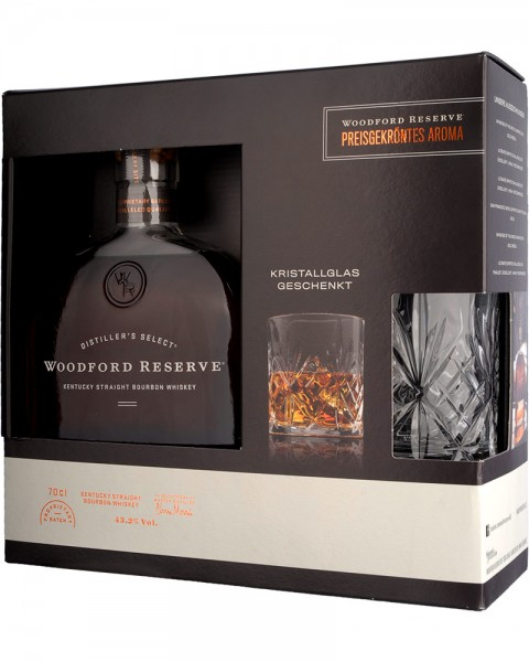 Woodford Reserve Bourbon Whiskey GP mit Glas 0,7l